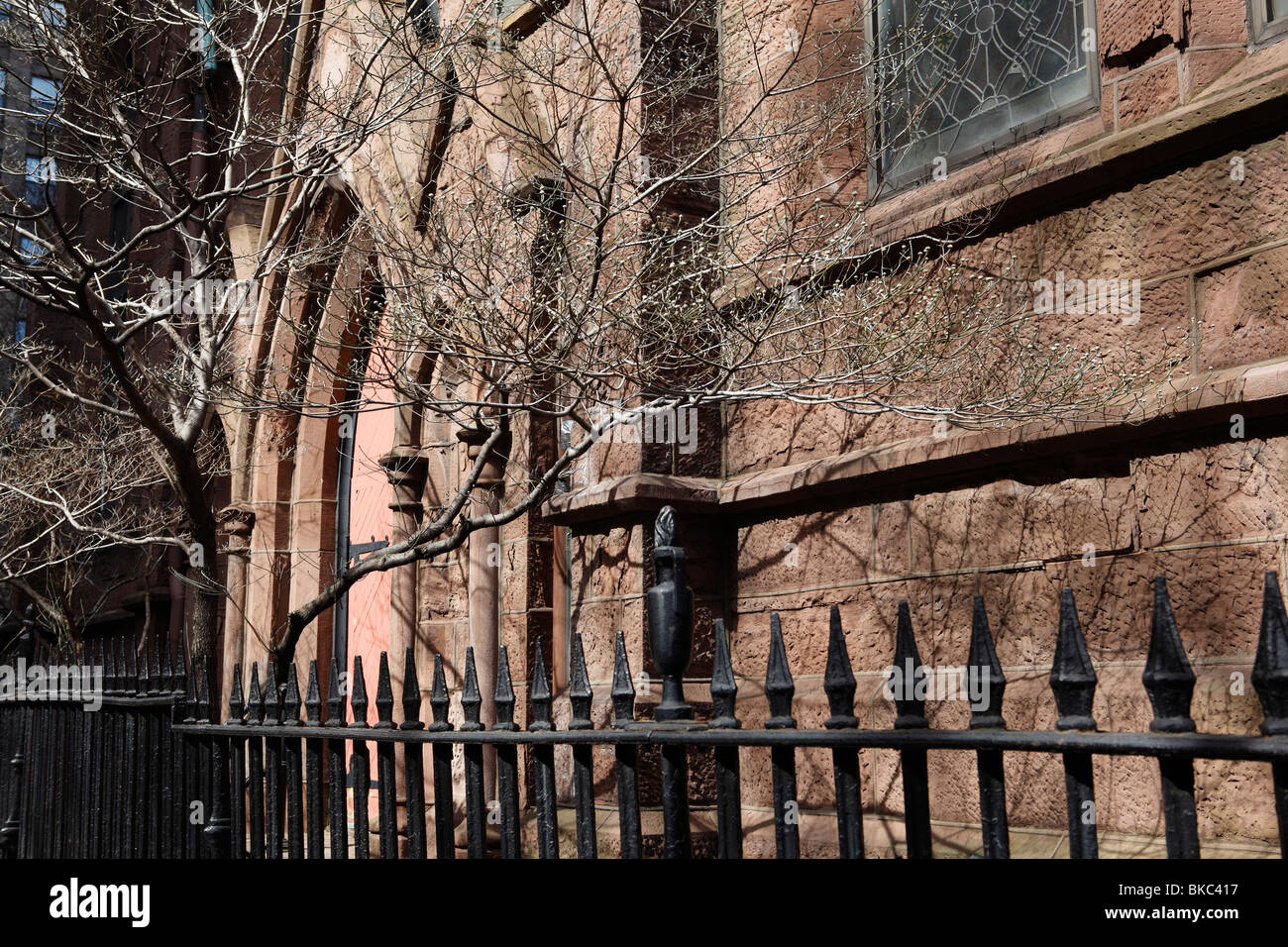 church facade of Calvary Episcopal Church in New York City - Stock Image