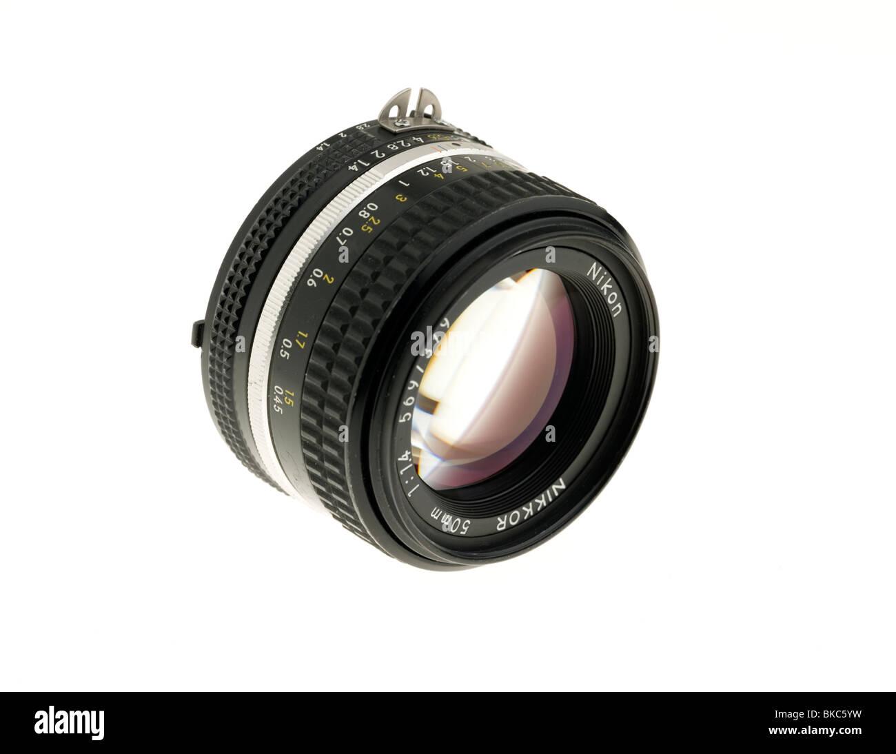 Nikon 50mm lens - Stock Image