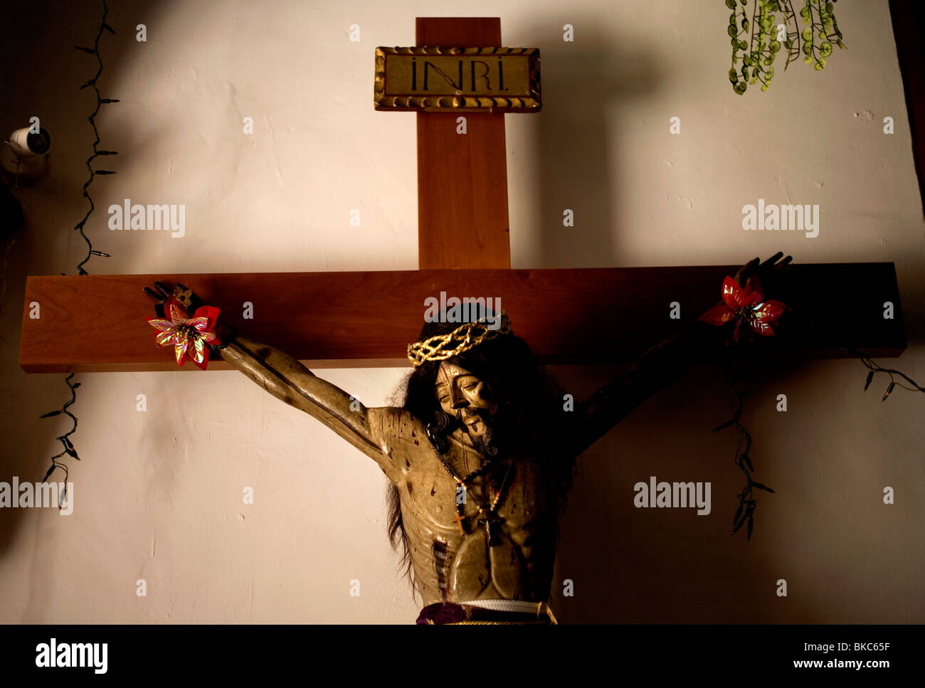 A sculpture of Jesus Christ hangs in the San Miguel Arcangel Church in Tepoztlan, Mexico, December 17, 2007. Photo/Chico Stock Photo