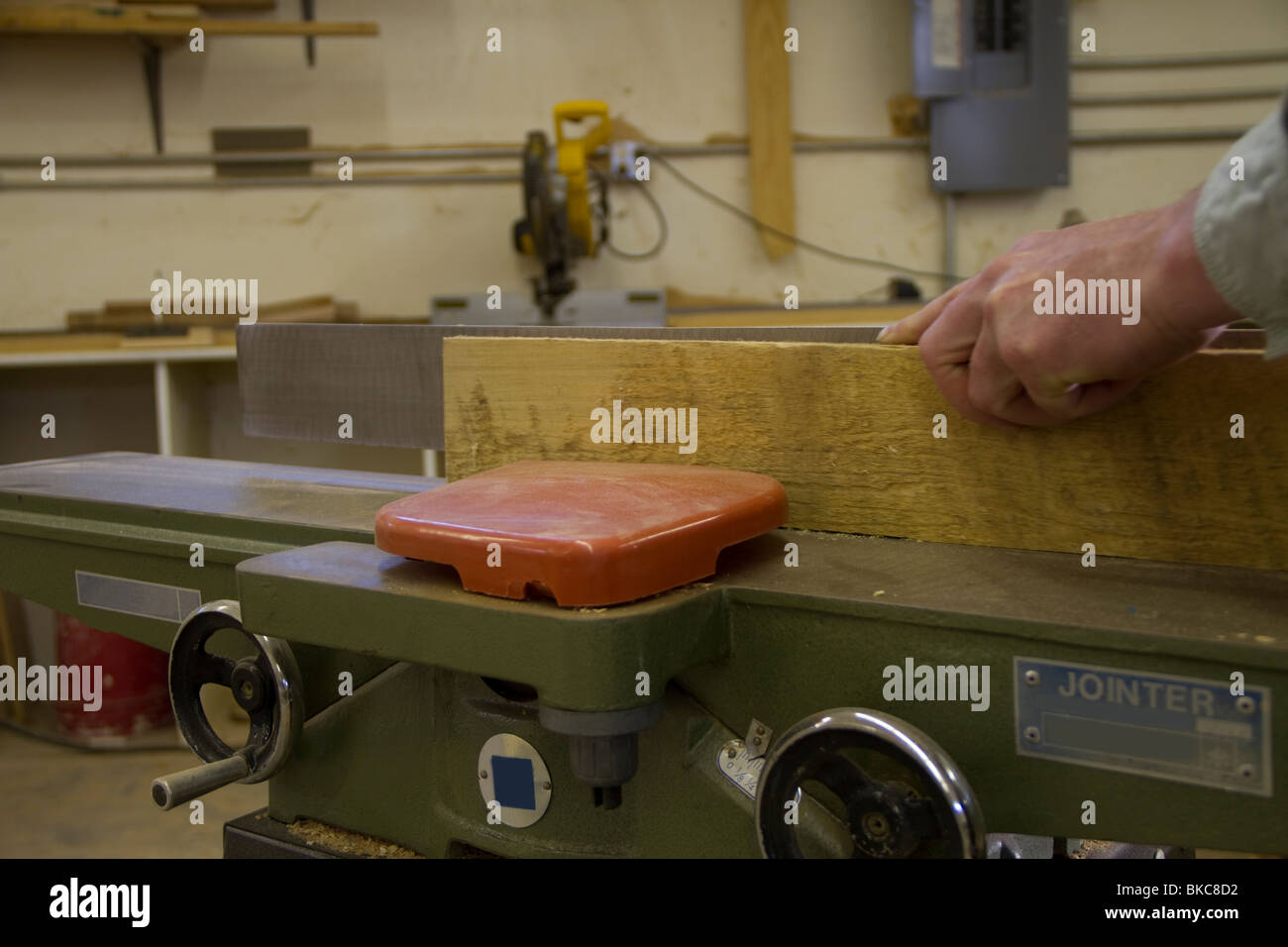 Jointer in Operation - Stock Image
