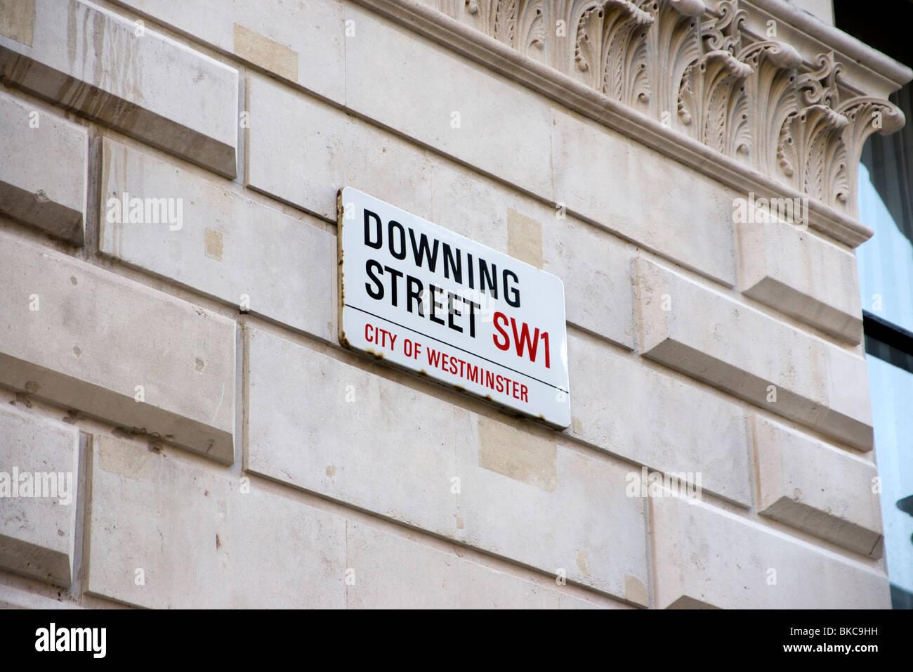 Downing Street Sign, London, UK - Stock Image