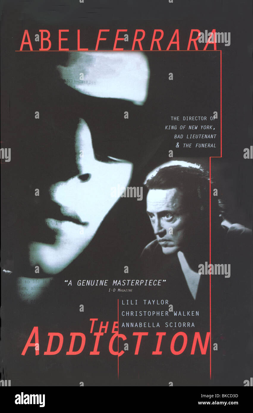 THE ADDICTION -1995 POSTER - Stock Image