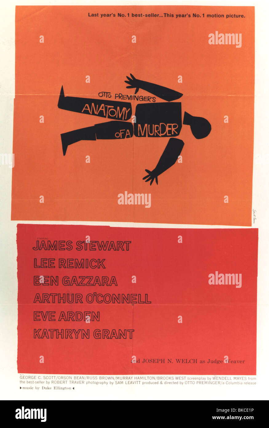 ANATOMY OF A MURDER (1959) OTTO PREMINGER (DIR) ANMR 001CP - Stock Image