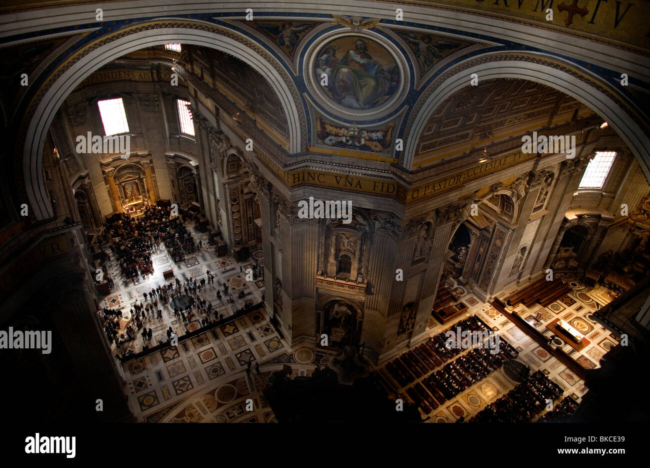 A view of St. Peter's Basilica in Vatican City, Rome, Italy, March 9, 2008. Photo/Chico Sanchez Stock Photo