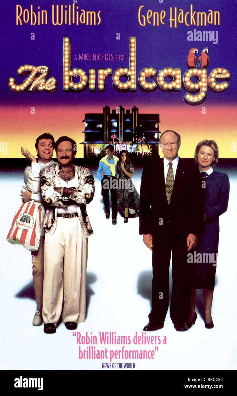 THE BIRDCAGE -1995 POSTER BRCG - Stock Image