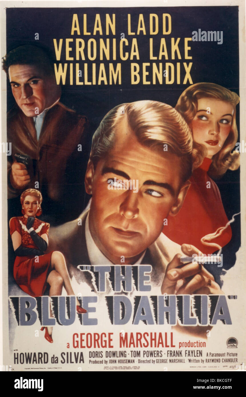 THE BLUE DAHLIA -1946 POSTER - Stock Image