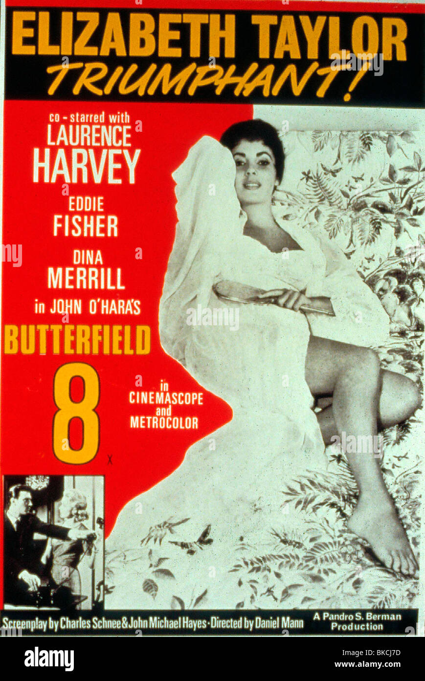 BUTTERFIELD EIGHT (1960) ELIZABETH TAYLOR POSTER BFET 039 - Stock Image