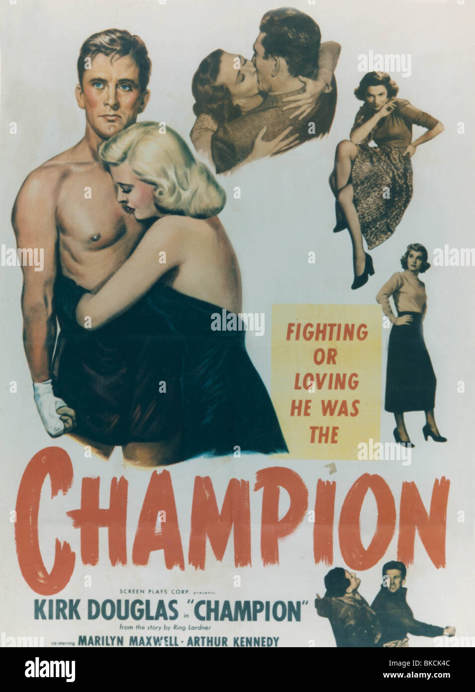 CHAMPION -1949 POSTER - Stock Image