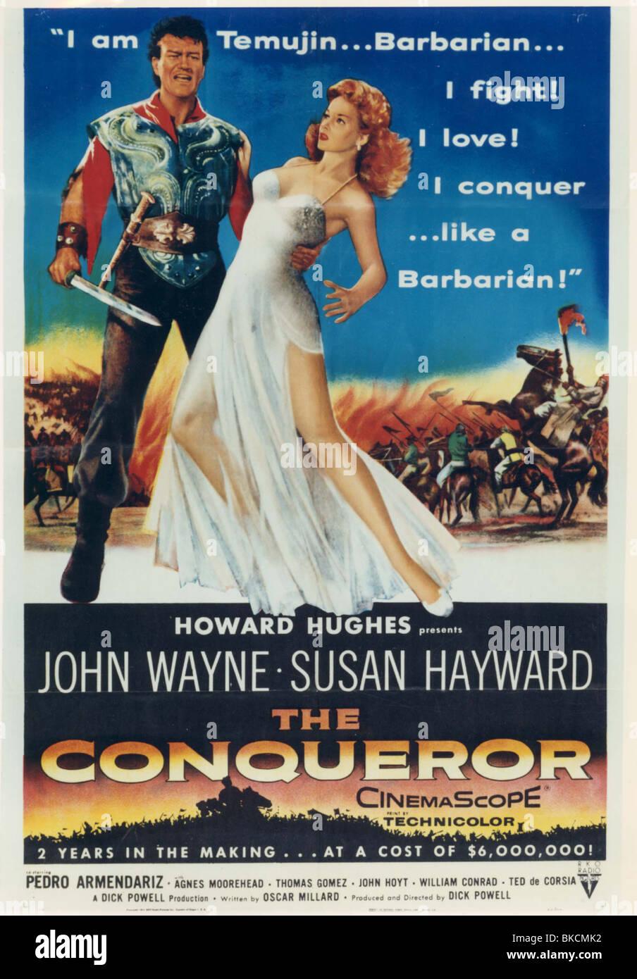 THE CONQUEROR -1955 POSTER - Stock Image