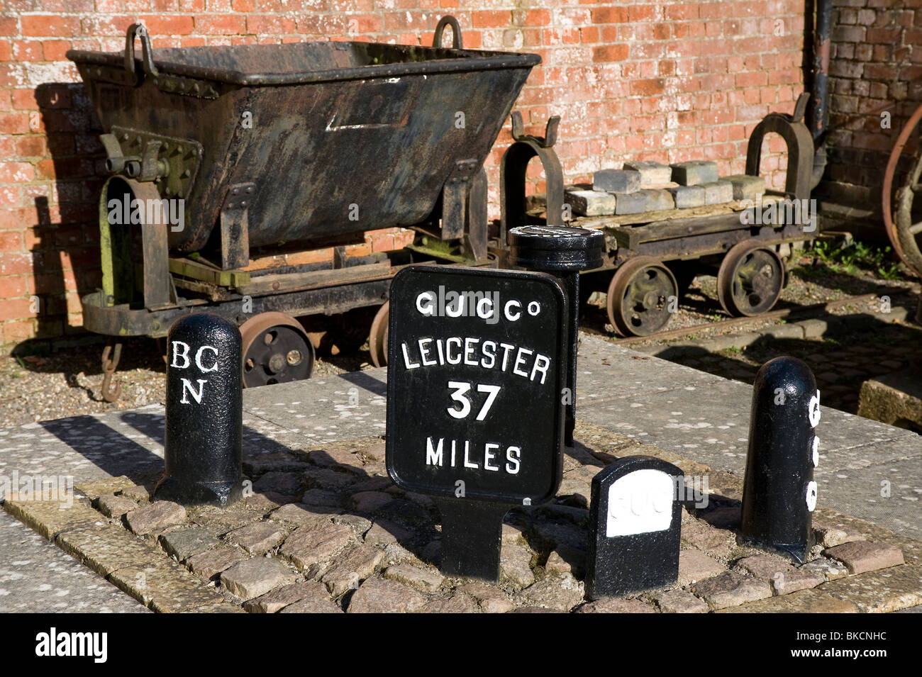 Old canal artefacts at Foxton Locks, Leicestershire, England - Stock Image