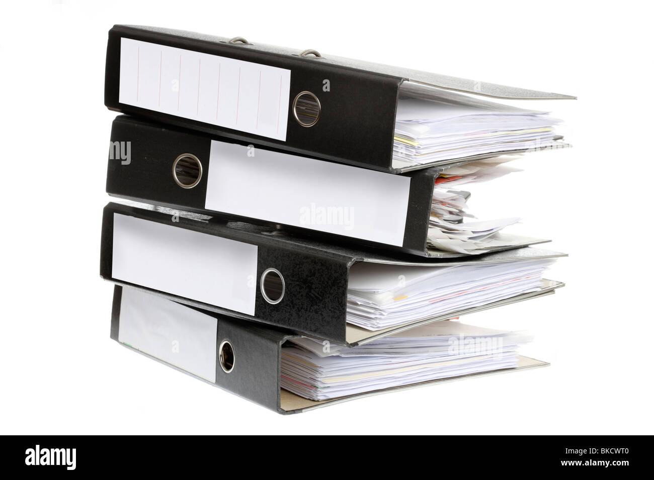 Document file, box file, office supply, paperwork. filing folder. - Stock Image