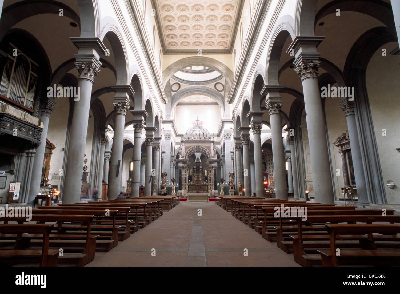 italy, tuscany, florence, church of santo spirito - Stock Image