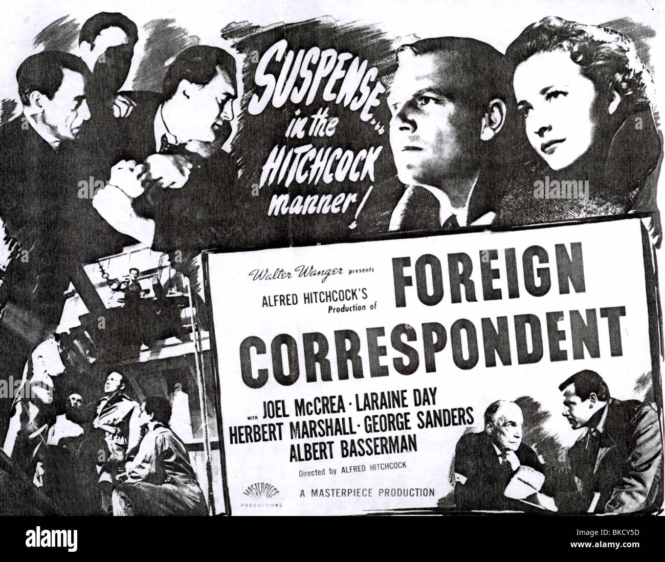 FOREIGN CORRESPONDENT (1940) POSTER FRCS 001PP - Stock Image