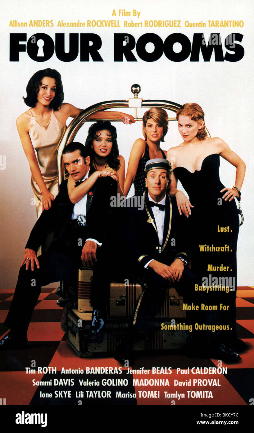 FOUR ROOMS -1995 POSTER - Stock Image