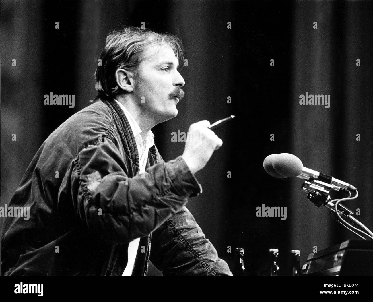 Hubert,  Kleinert, German politician, portrait, federal party conference of The Greens, Hamburg, 7.- 9.12.1984, - Stock Image