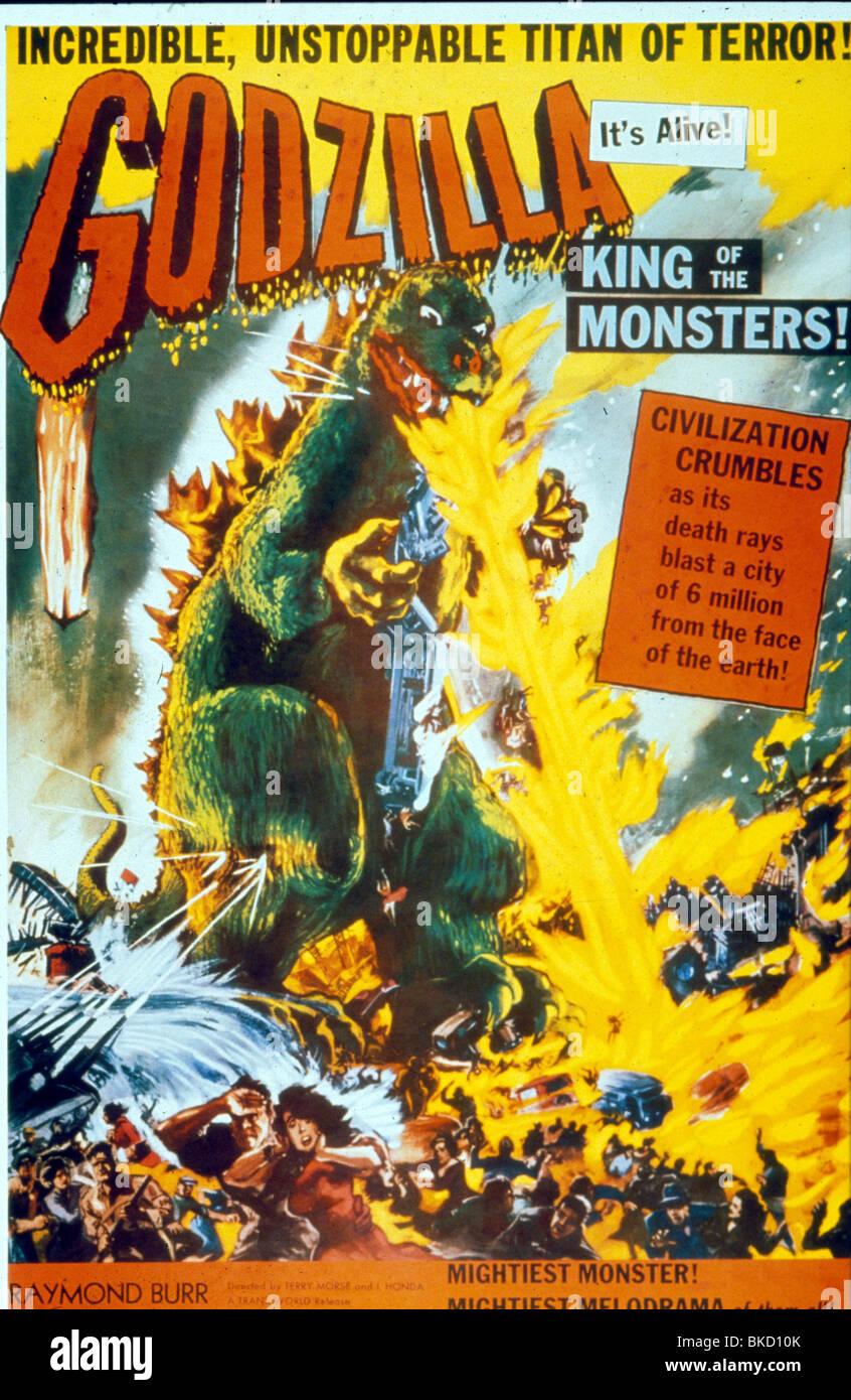 GODZILLA -1955 POSTER - Stock Image
