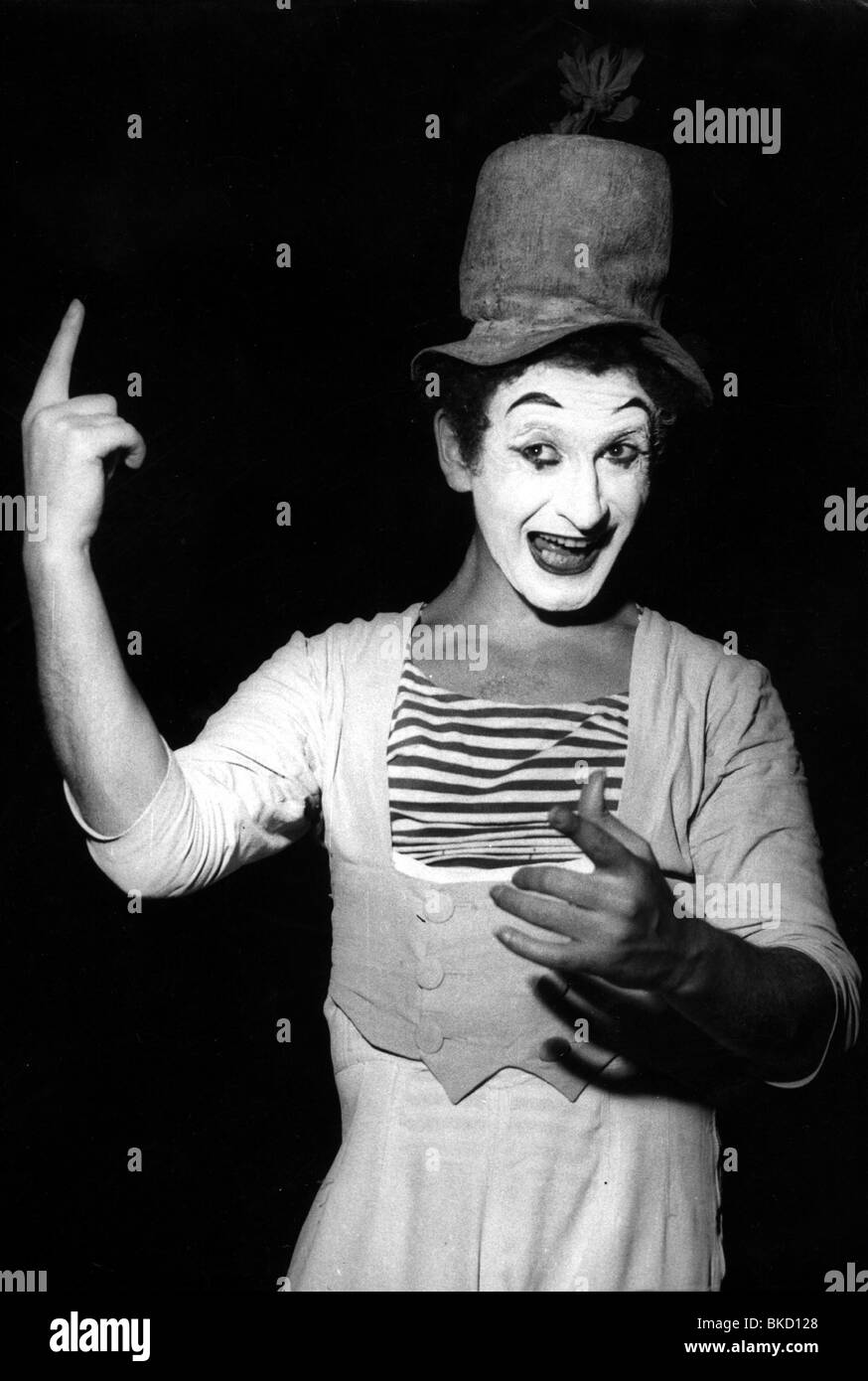 Marceau, Marcel, 22.3.1923 - 22.9.2007, French mime artist, during a performance, 1960s, Additional-Rights-Clearances - Stock Image