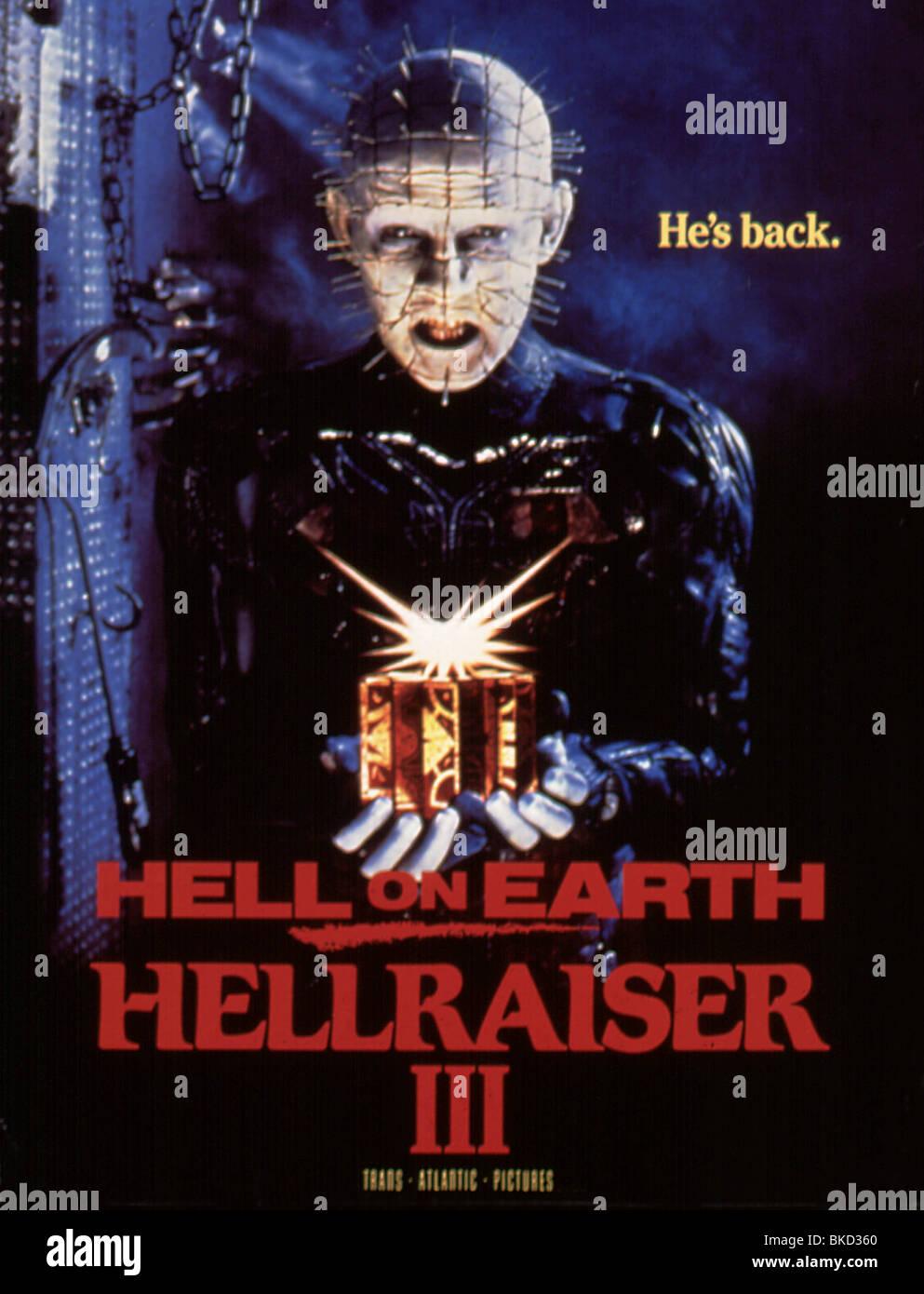 HELLRAISER III: HELL ON EARTH (1992) HELLRAISER 3 (ALT) POSTER HLR3 012 - Stock Image