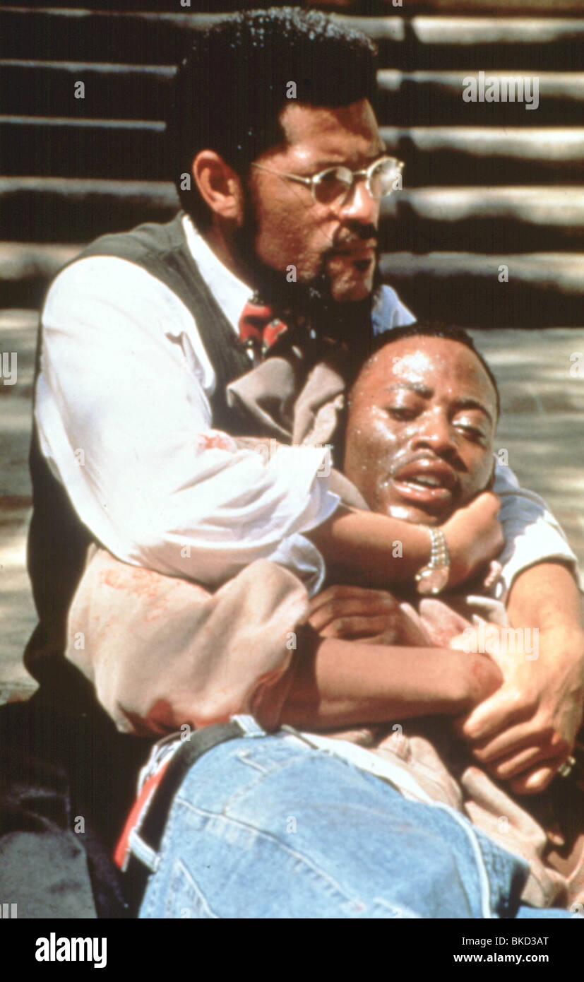 HIGHER LEARNING (1994) LAURENCE FISHBURNE, OMAR EPPS HIGH 034 Stock Photo