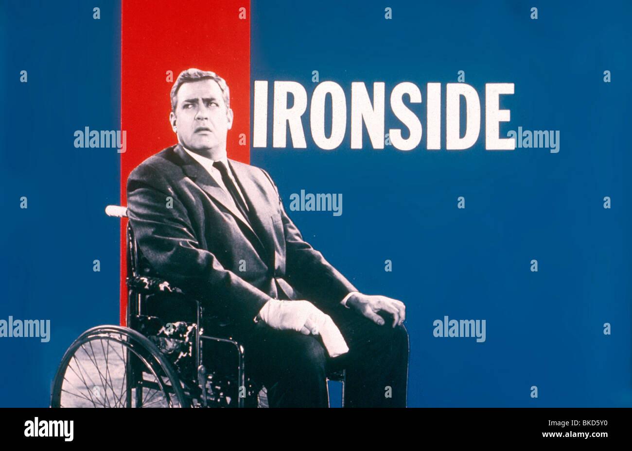 IRONSIDE (TV) RAYMOND BURR - Stock Image