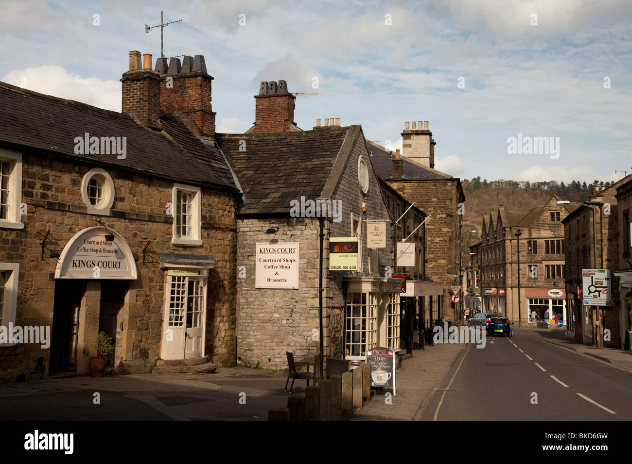 Market town of Bakewell in the  Derbyshire Peak District East Midlands England UK - Stock Image