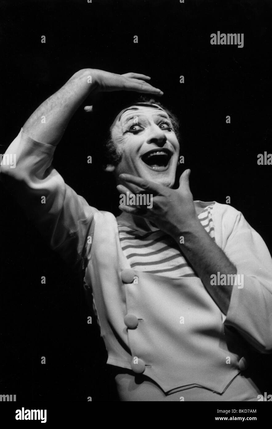 Marceau, Marcel, 22.3.1923 - 22.9.2007, French mime artist, half length, during a performance, 1960s, Additional - Stock Image