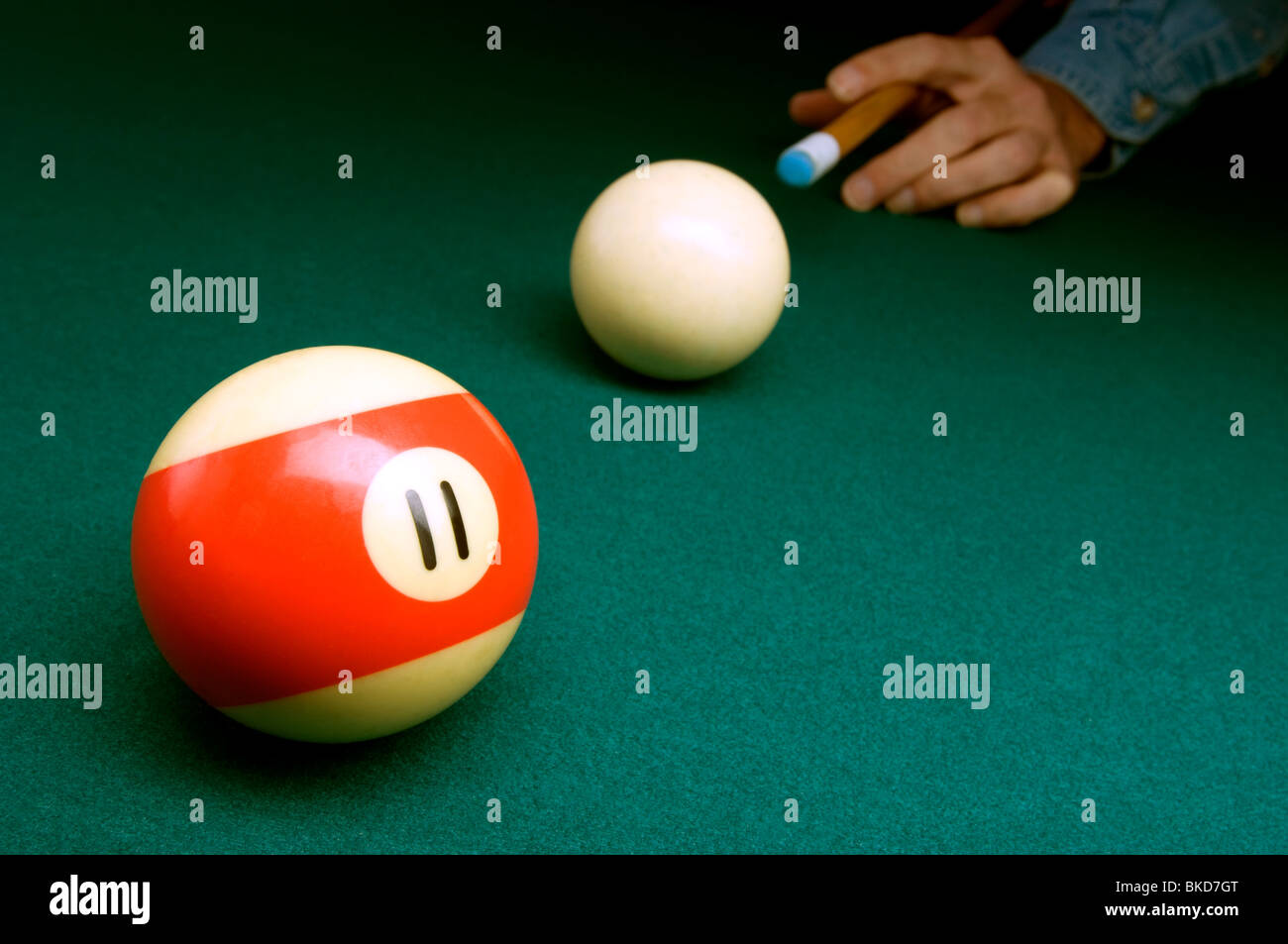 Billiard still life - Stock Image