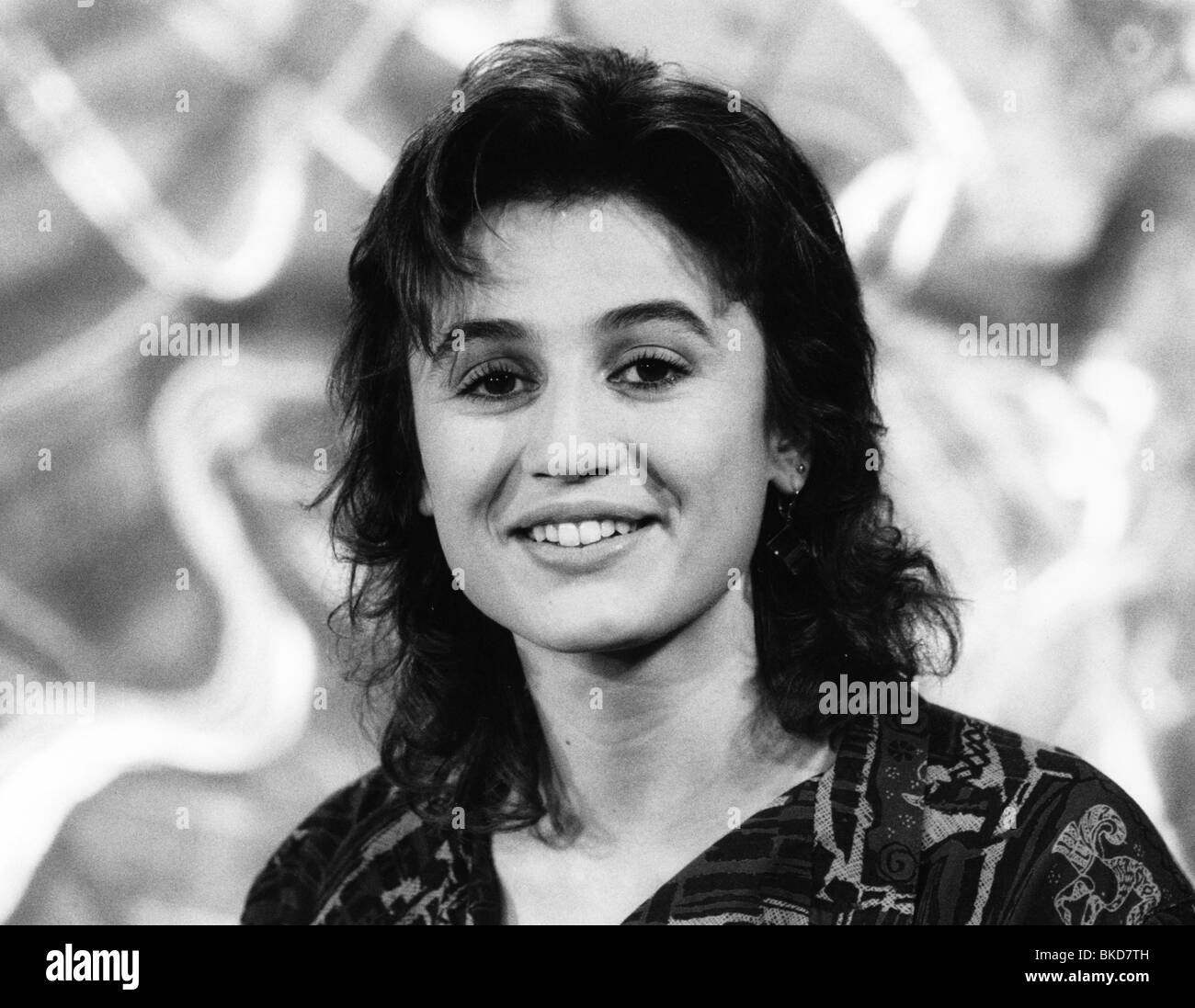 Maischberger, Sandra, * 26.8.1966, German journalist, TV presenter, portrait, circa 1990, , Stock Photo