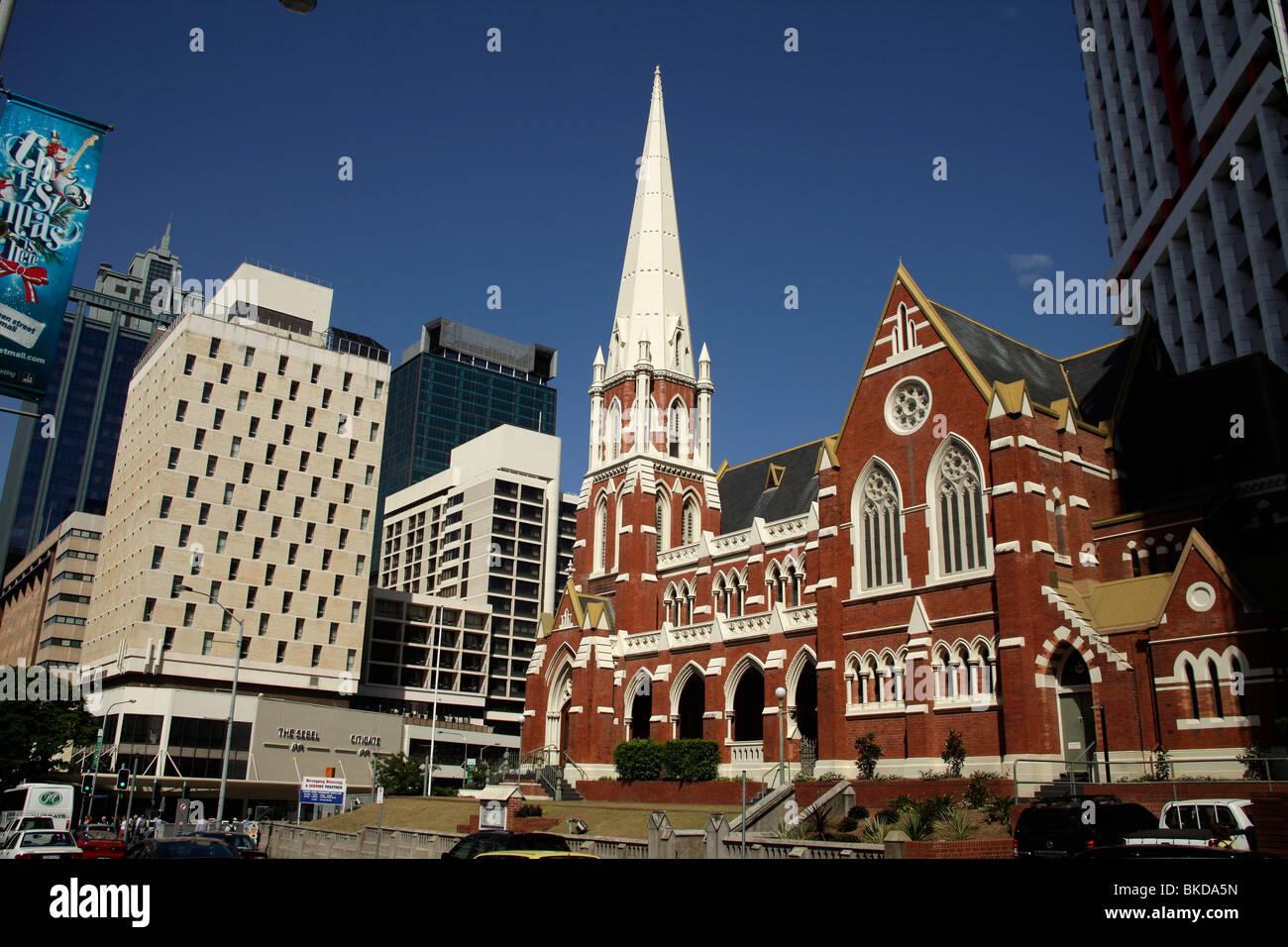 Albert Street Uniting Church in Brisbane, Queensland, Australia - Stock Image