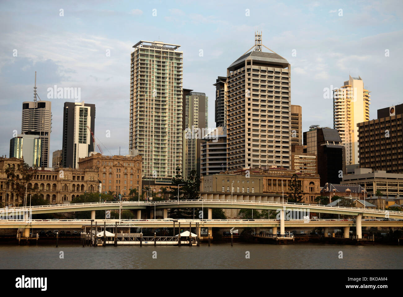 Skyscraper and River in Brisbane, Queensland, Australia - Stock Image