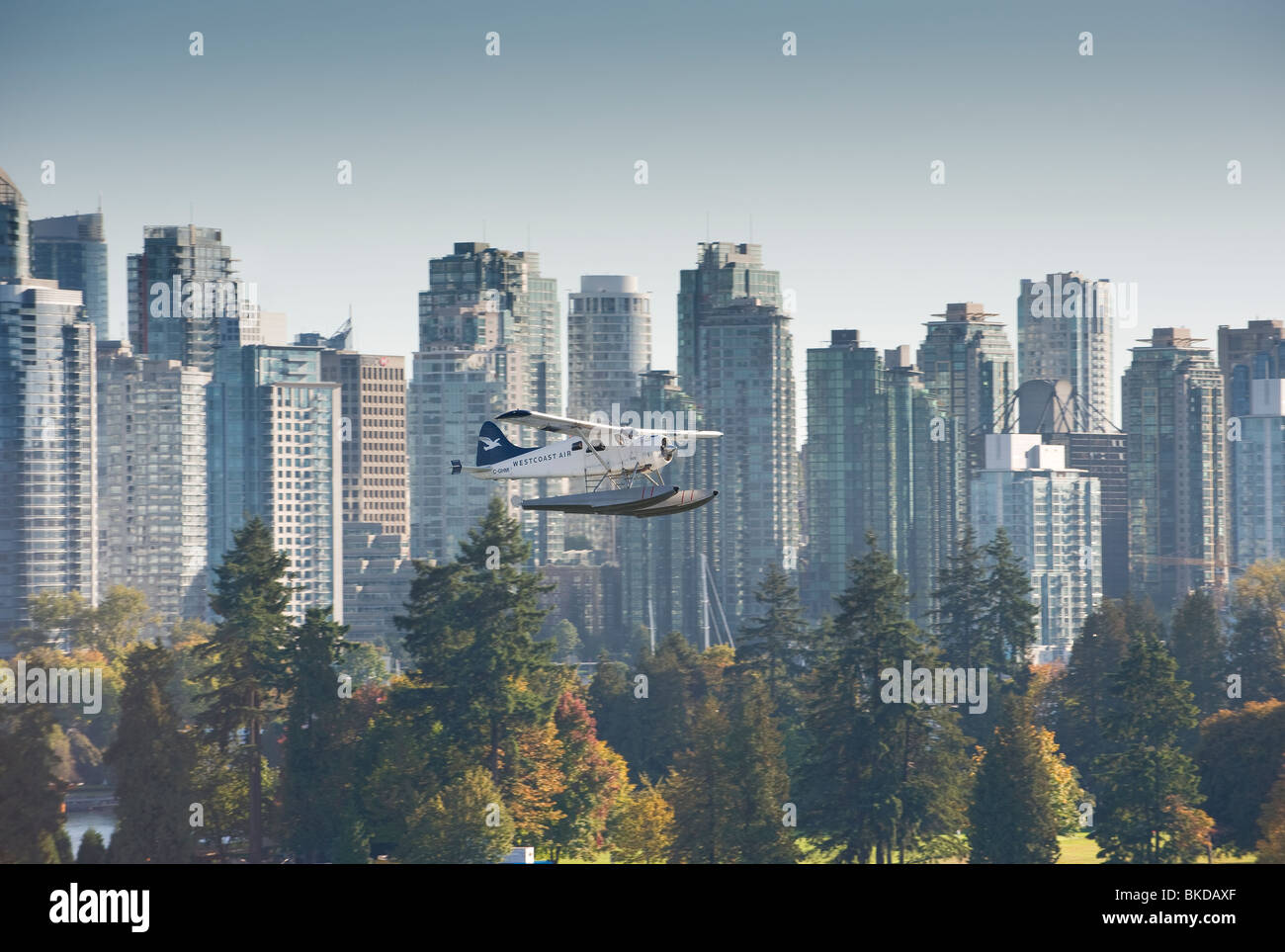 Flying boat Vancouver BC Canada - Stock Image