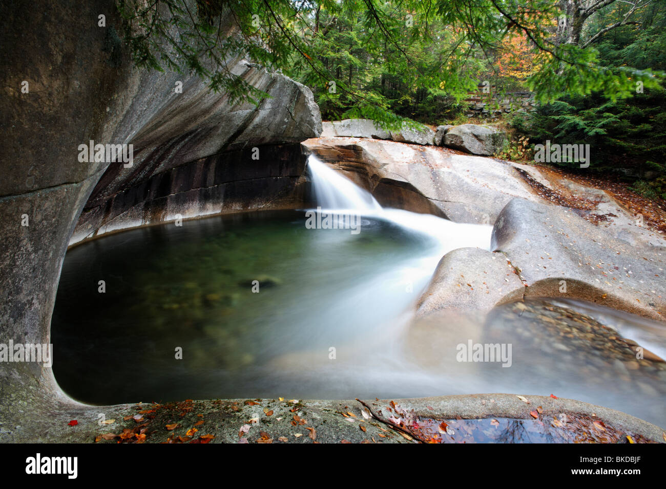 Granite Pool At The Basin Franconia Notch State Park New