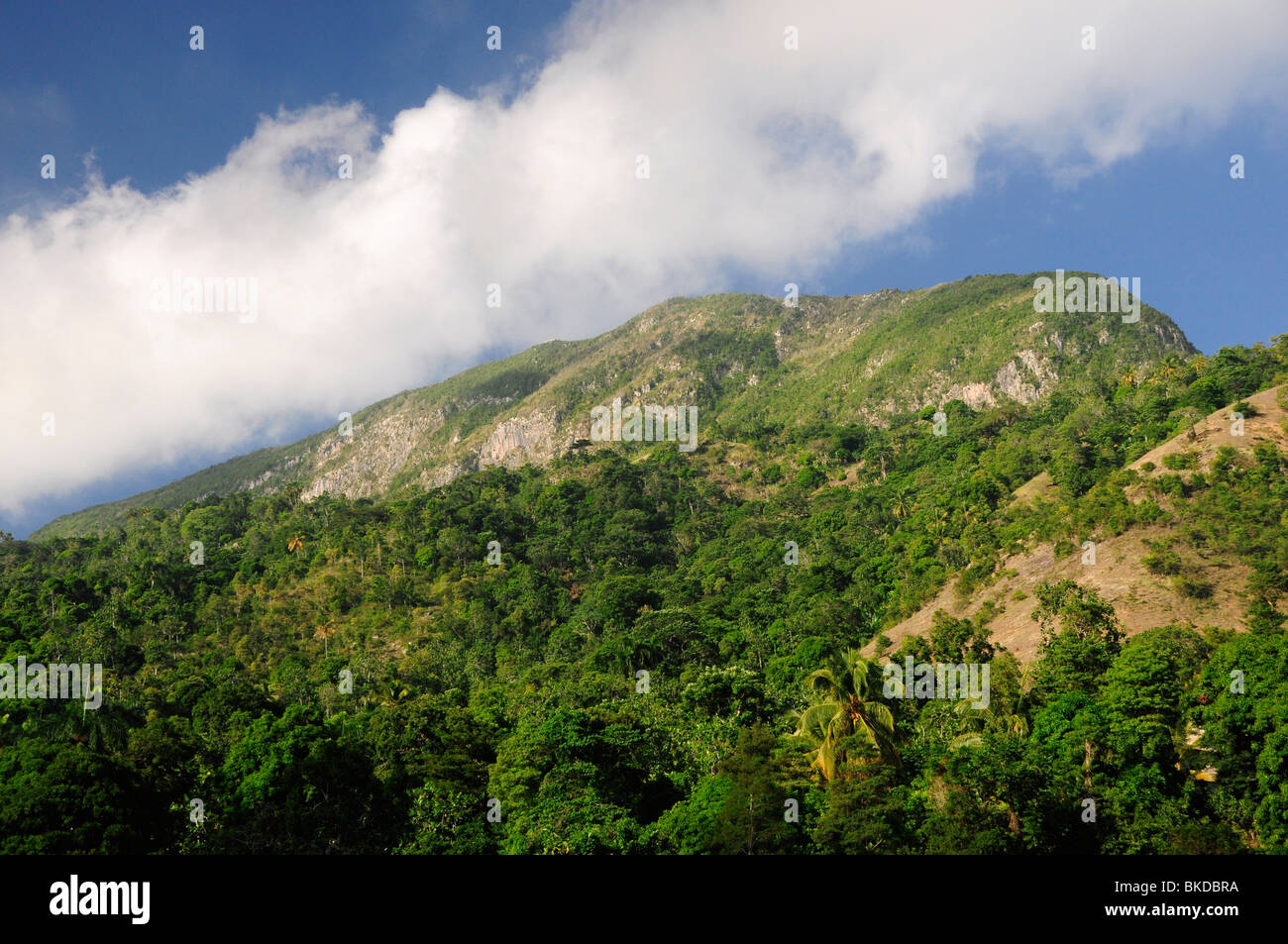 Hills close to the ruins of Sans Souci Palace, Milot, Northern Haiti - Stock Image