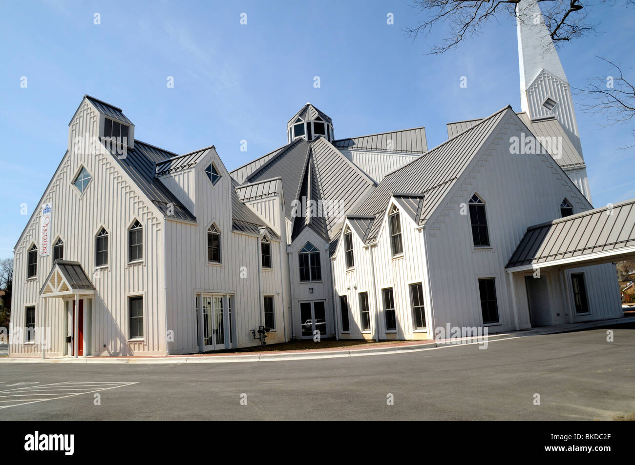 The Wallace Memorial Presbyterian Church in College Park, Maryland - Stock Image