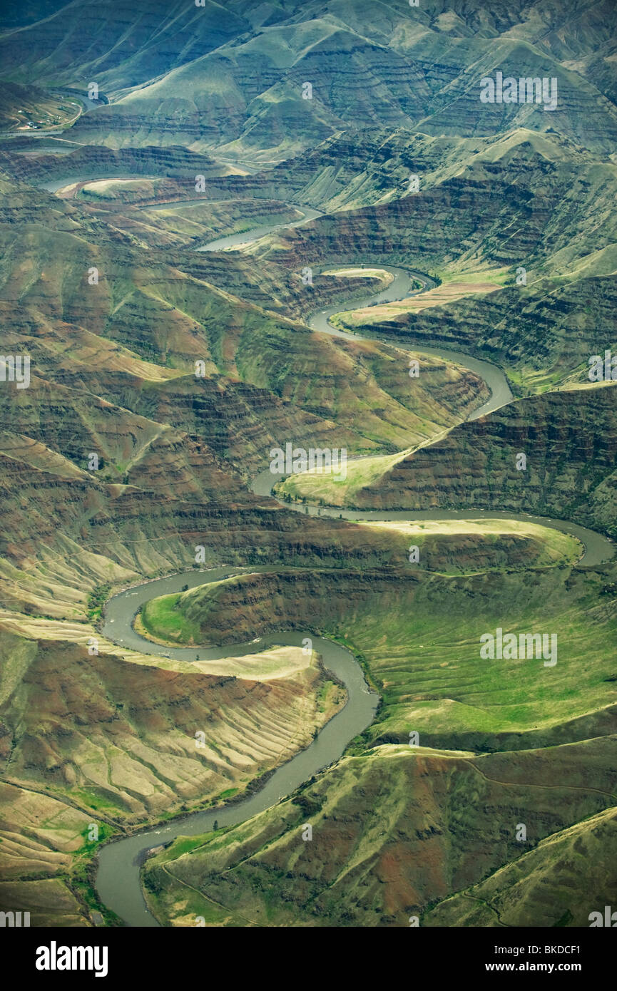 Grande Ronde River Canyon, Tributary of the Snake River, Eastern Washington - Stock Image