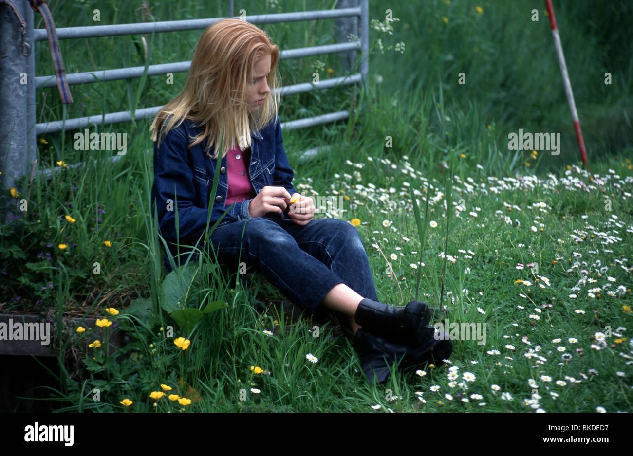 Sad teenager girl Stock Photo