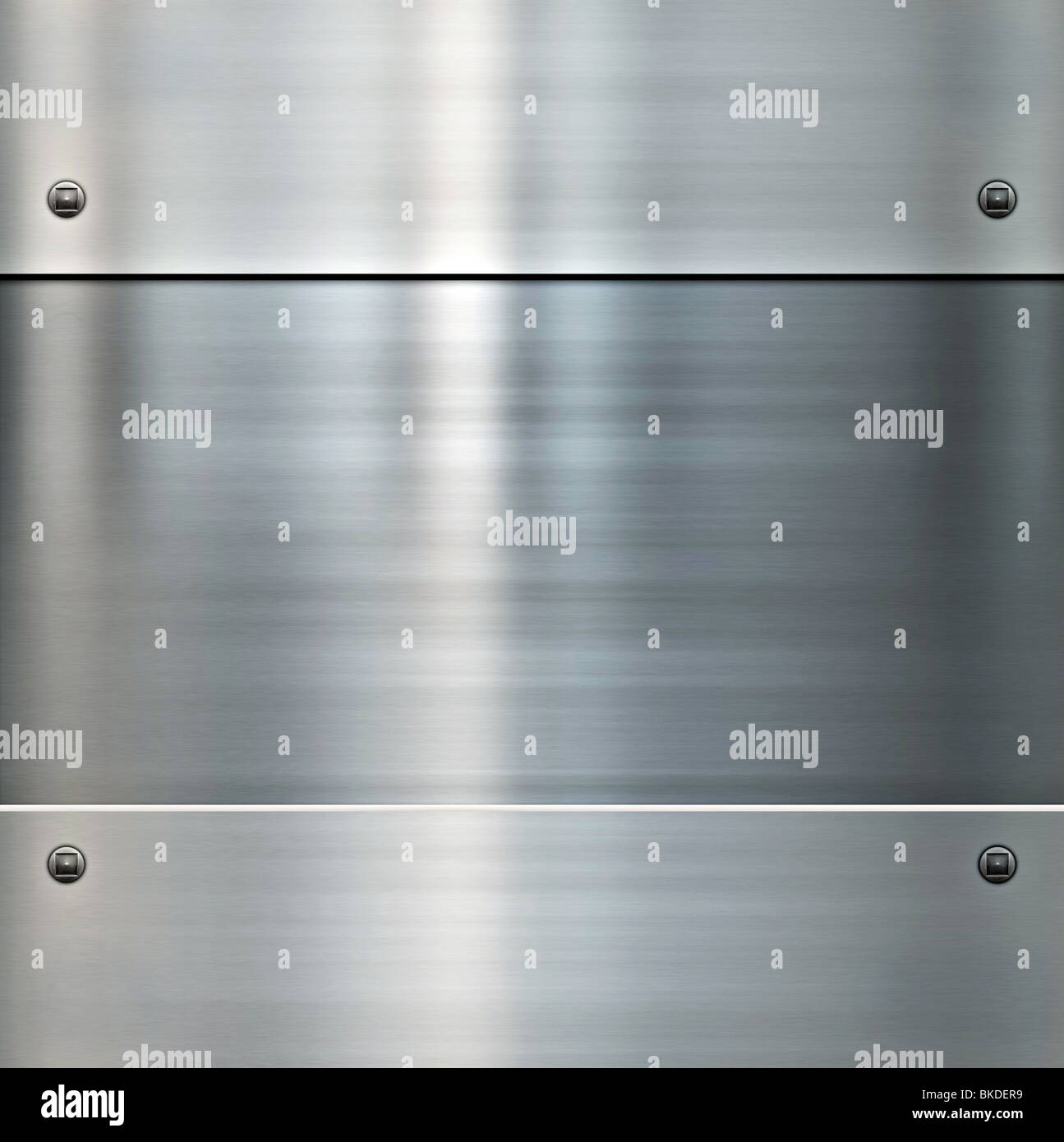 image of a shiny brushed metal background Stock Photo