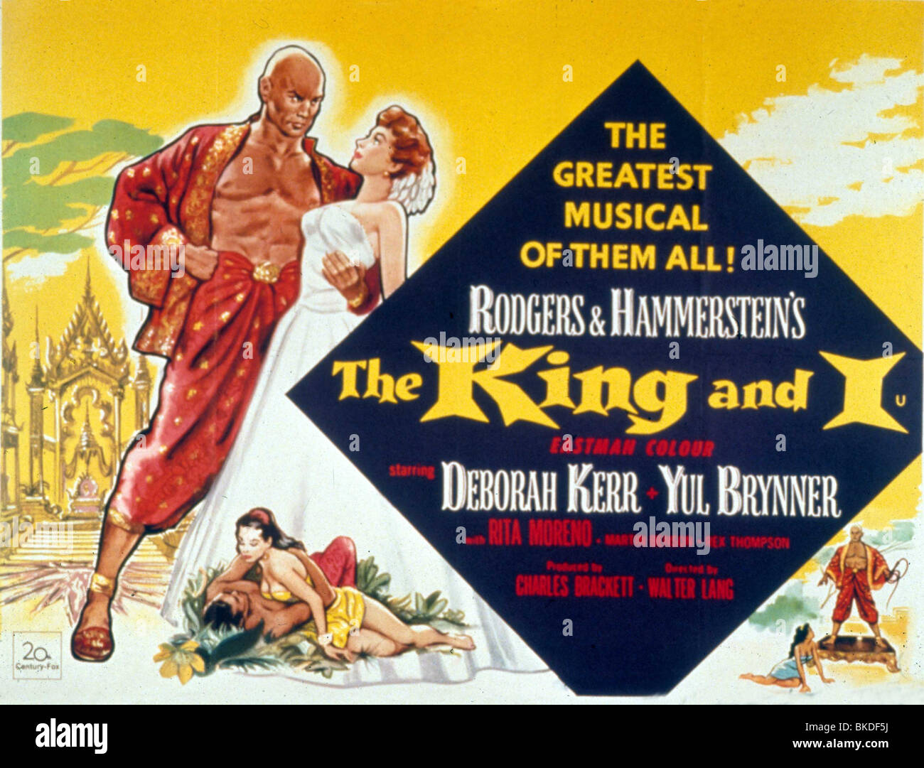 THE KING AND I -1956 - Stock Image