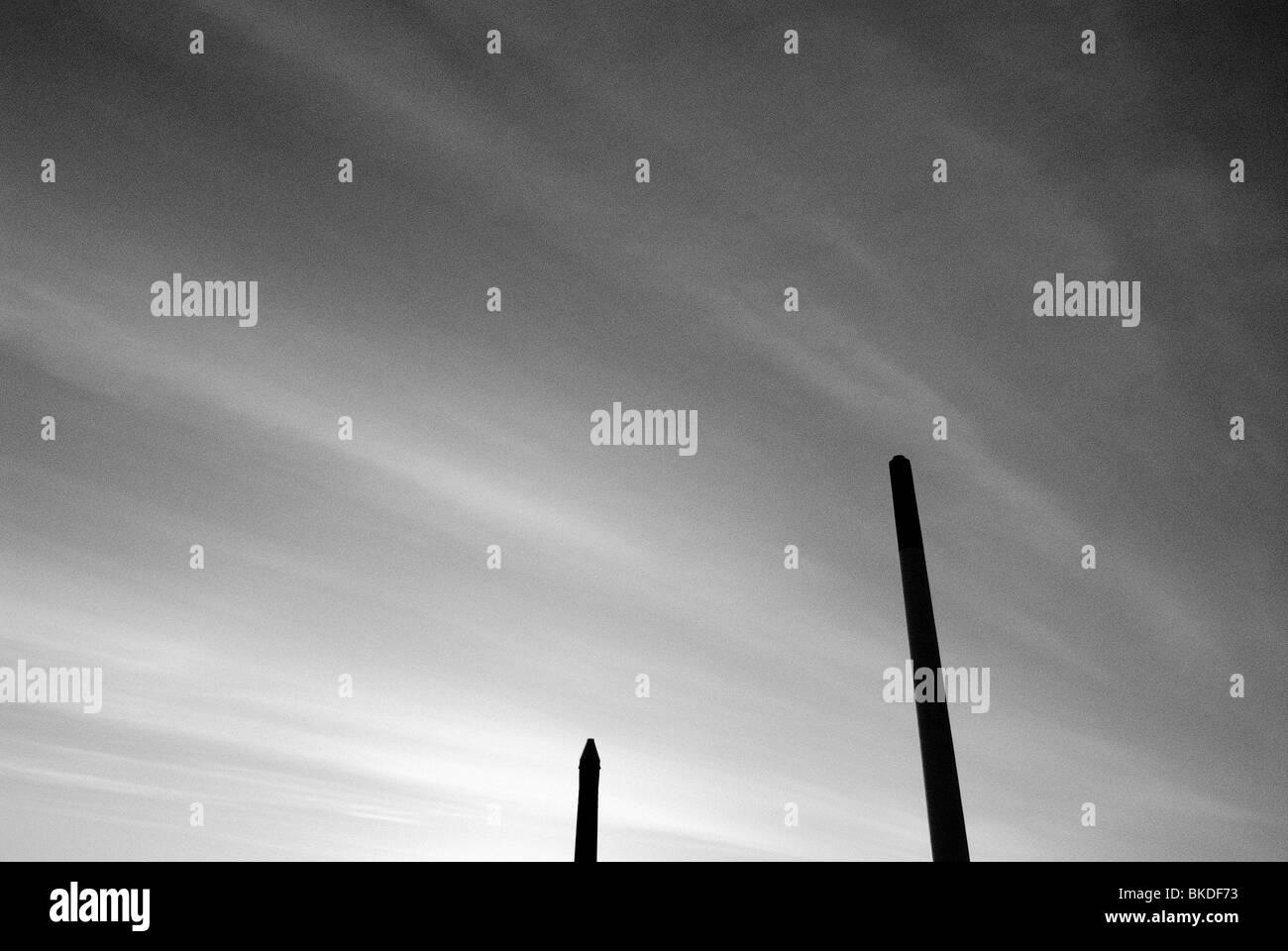 VOLCANIC SUNSET SKY - Stock Image