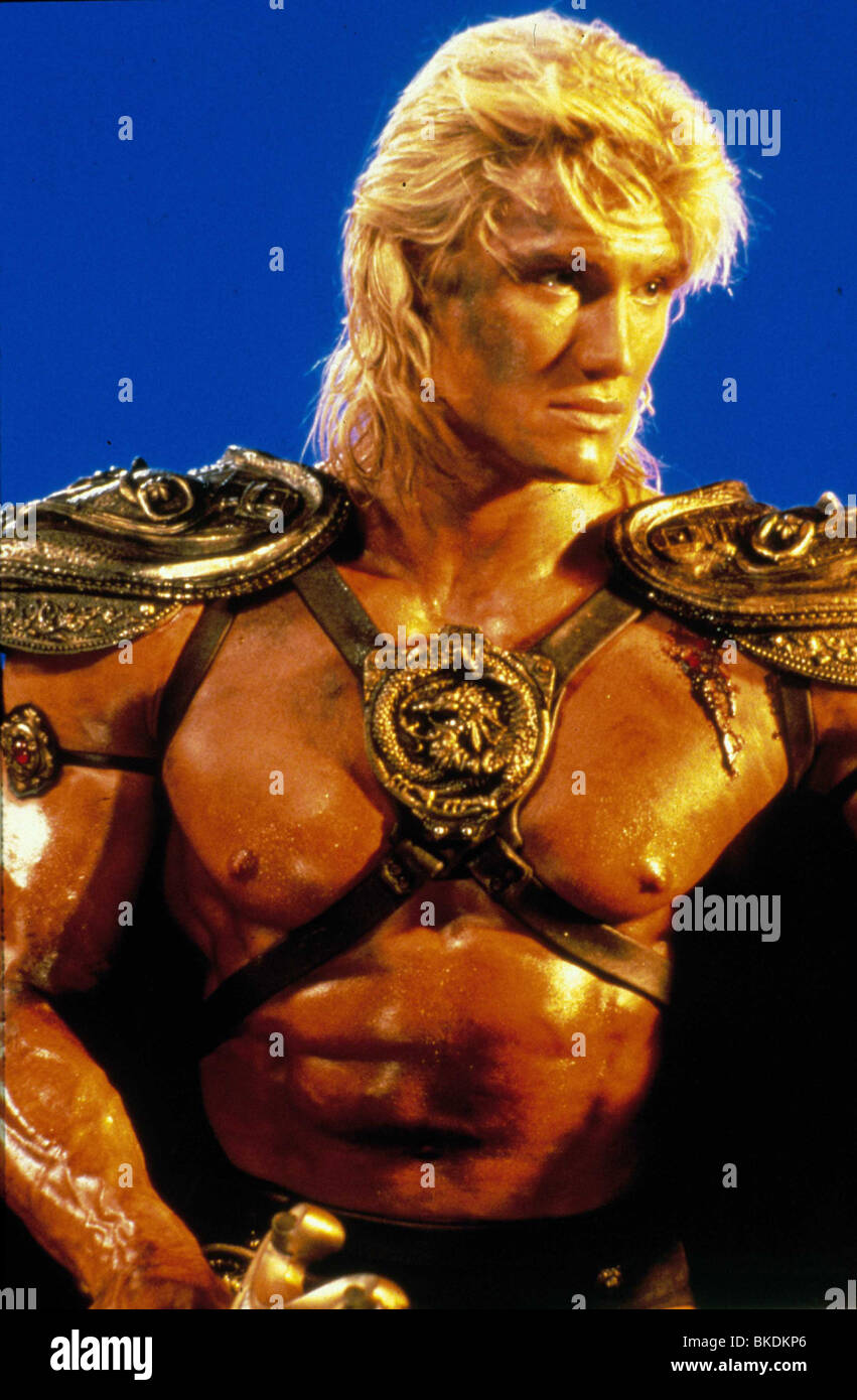 MASTERS OF THE UNIVERSE (1987) DOLPH LUNDGREN MOU 008 - Stock Image