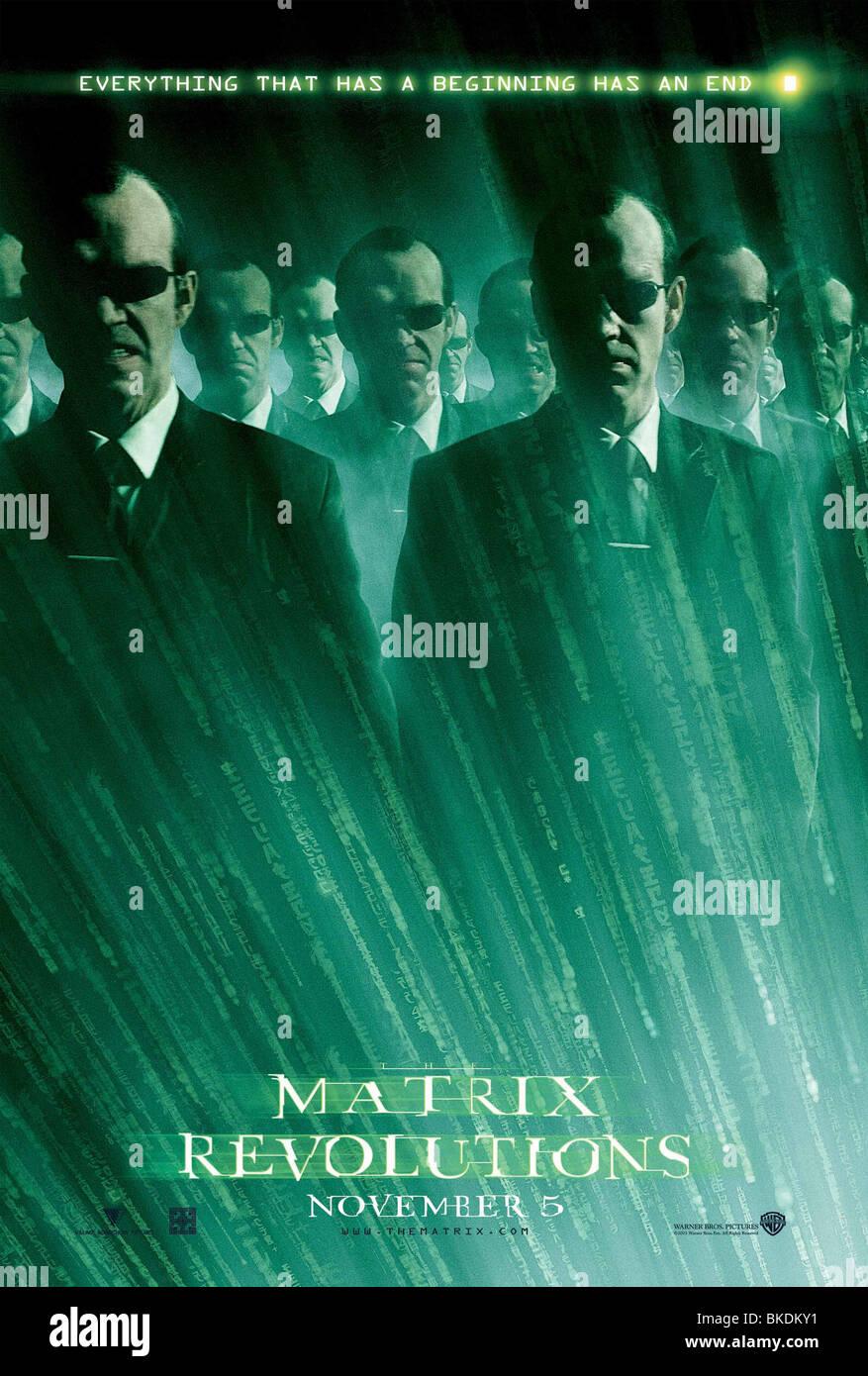 THE MATRIX REVOLUTIONS (2003) THE MATRIX 3 (ALT) POSTER MTX3 002-P1 - Stock Image