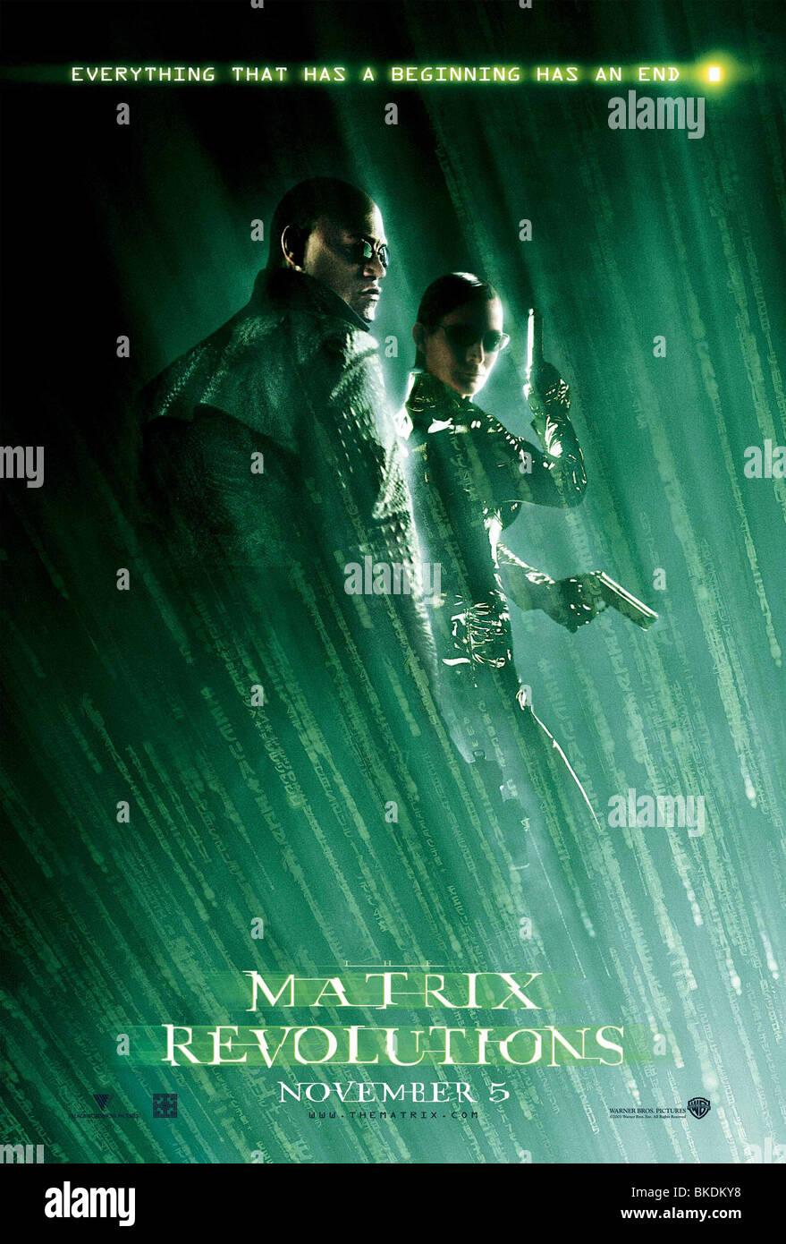 THE MATRIX REVOLUTIONS (2003) THE MATRIX 3 (ALT) POSTER MTX3 002-P4 - Stock Image
