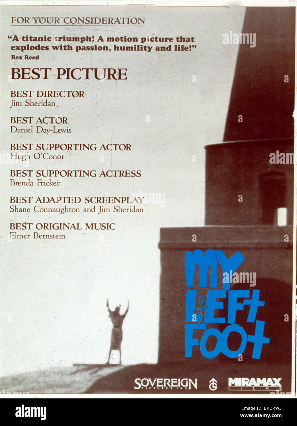 MY LEFT FOOT -1989 POSTER - Stock Image
