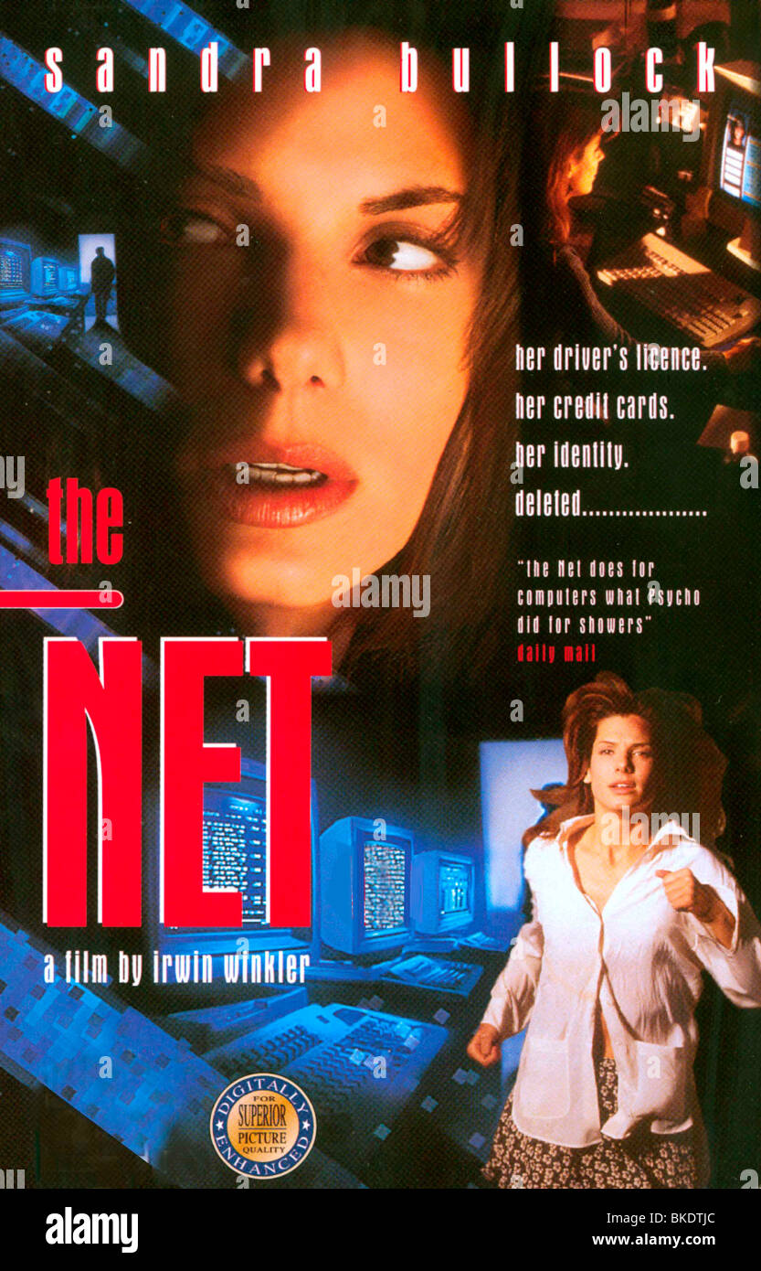 THE NET -1995 POSTER - Stock Image