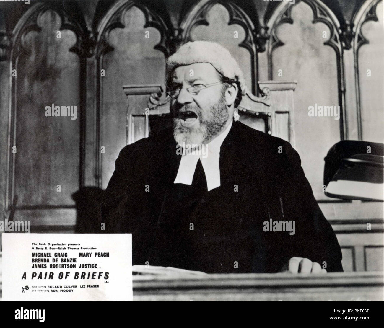 A PAIR OF BRIEFS (1961) JAMES ROBERTSON JUSTICE PRBR 003P - Stock Image