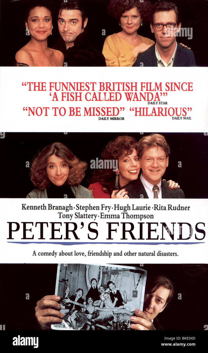 PETER'S FRIENDS -1992 POSTER - Stock Image