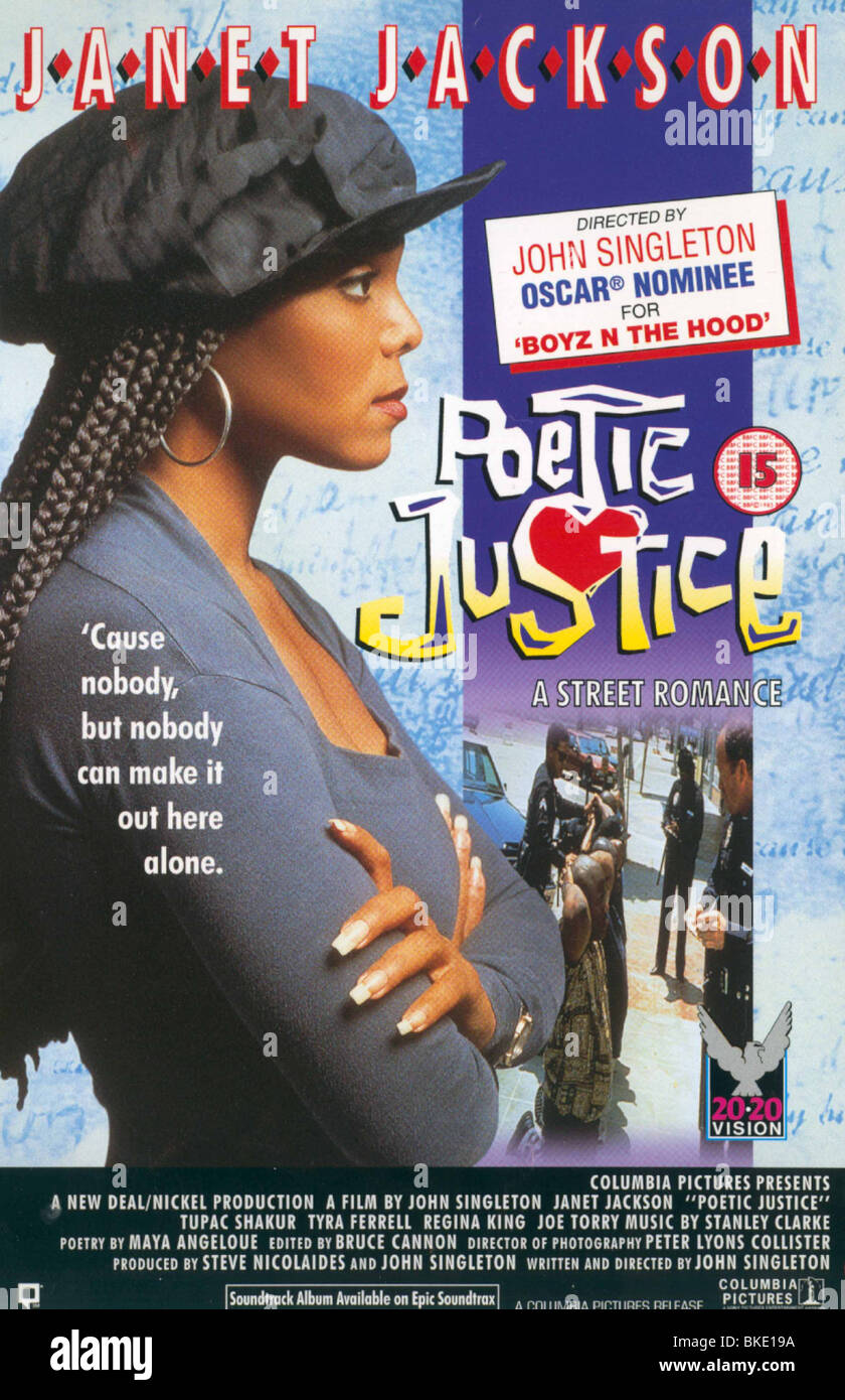 POETIC JUSTICE -1993 POSTER - Stock Image