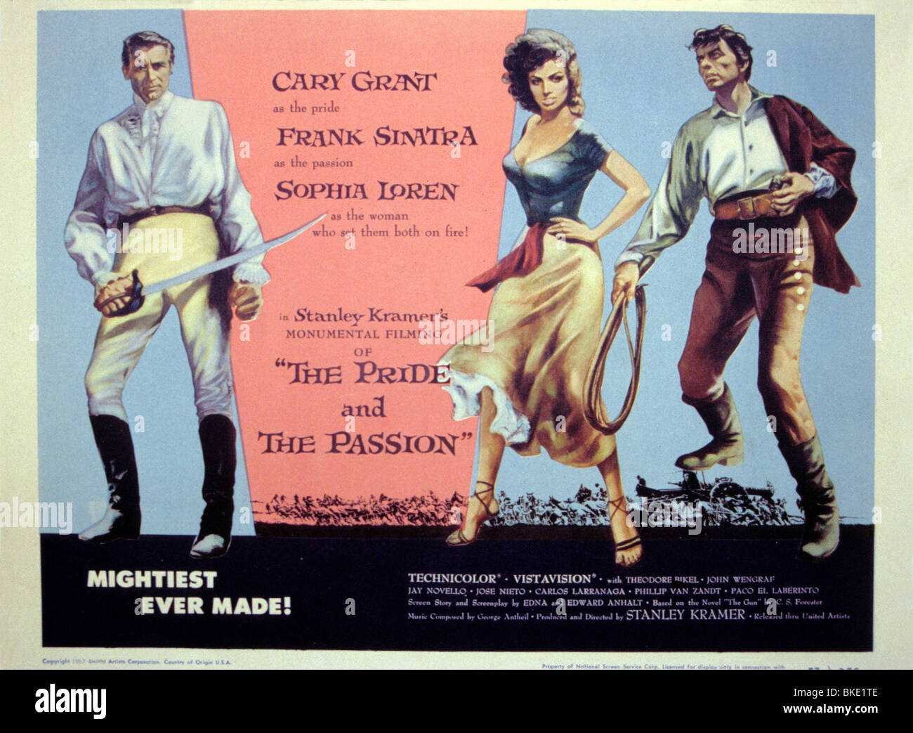 THE PRIDE AND THE PASSION (1957) POSTER PRPS 002 - Stock Image