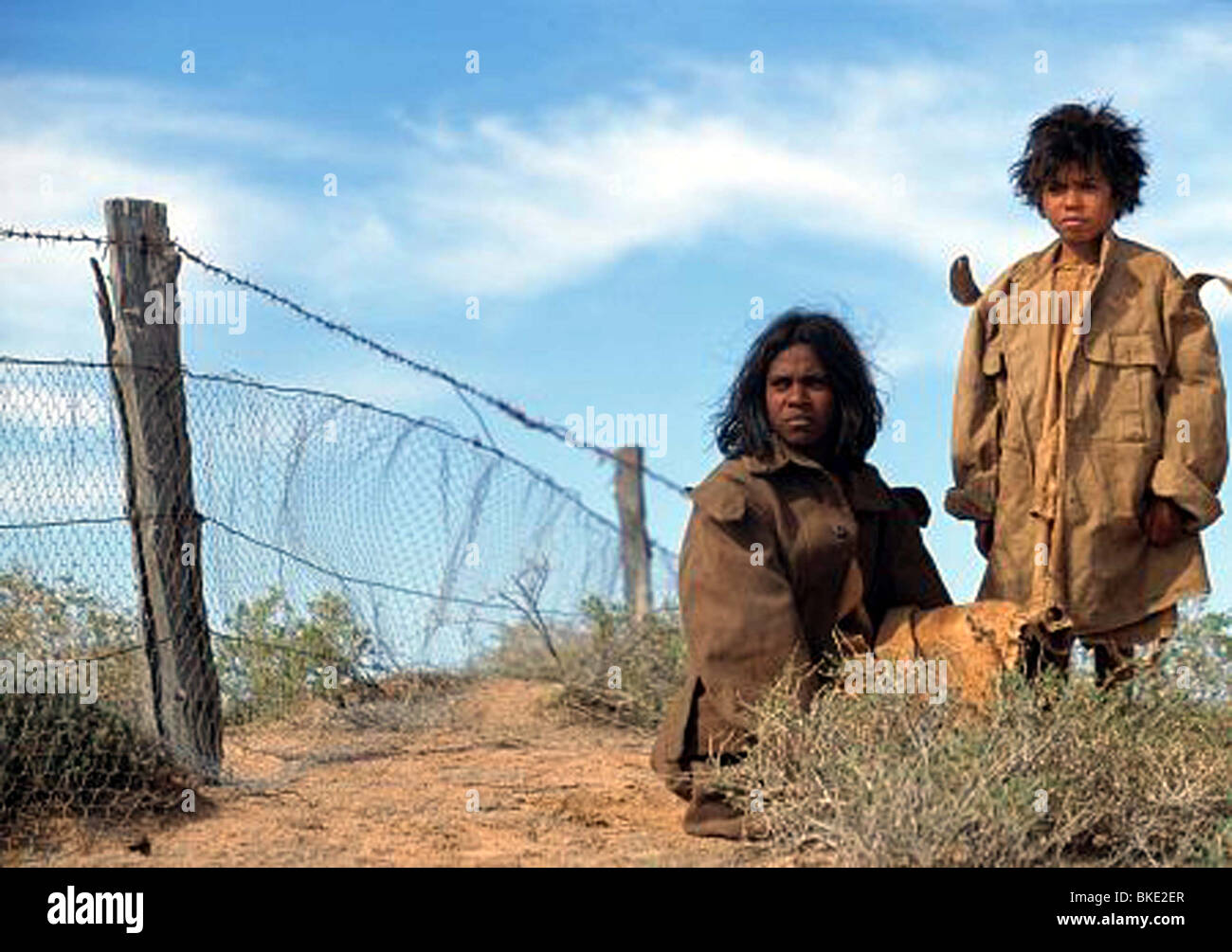 RABBIT-PROOF FENCE -2002 - Stock Image