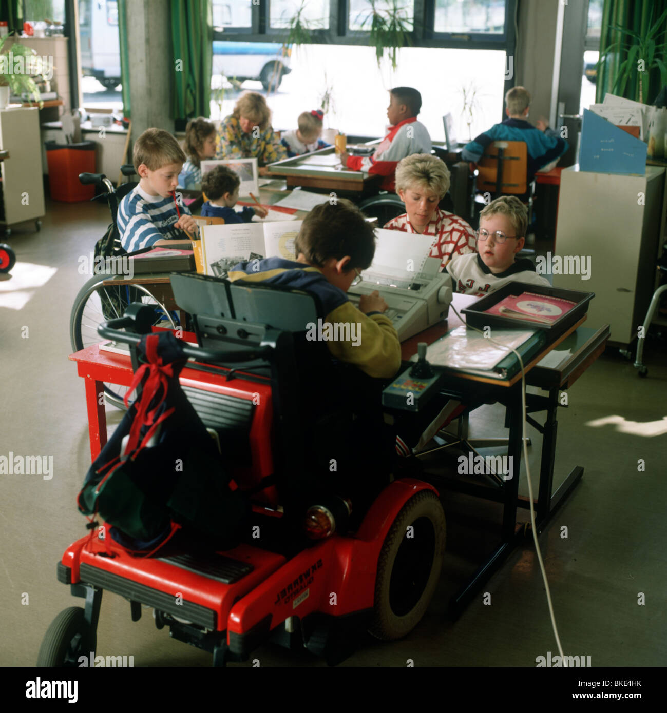 Handicapped children at school - Stock Image